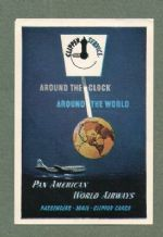 Airline luggage label Pan Am #472
